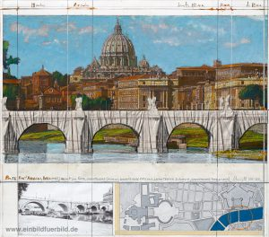 Christo - Ponte Sant Angelo, Project for Rome 1969-2011